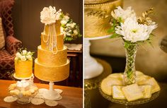 Tartas y galletas para una elegante fiesta años 20 / Cake and cookies for an elegant 20s party