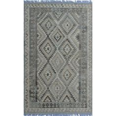 Sangat Kilim Lütfü Grey/Beige Rug x (Size), Size x (Wool, Geometric) Grey And Beige, Rug Store, Cool Rugs, Wool Area Rugs, Rugs Online, Hand Weaving, Professional Cleaning, Flooring, Pattern