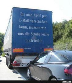 Bis man Äpfel per E-Mail verschicken kann, müssen wir.. | Lustige Bilder, Sprüche, Witze, echt lustig