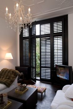 Delightful barn door shutters - read up on our guide for a whole lot more inspirations! House Inspiration, Home And Living, Interior, Small Rooms, Home Decor, House Interior, Garage To Living Space, Indoor Shutters, Black Shutters