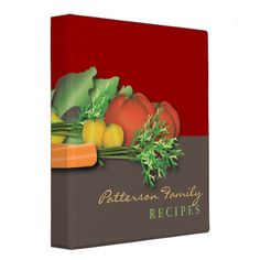 Shop Fresh Produce Family Recipe Cookbook Binder created by kat_parrella.