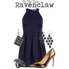 Ravenclaw by charlizard on Polyvore featuring Dorothy Perkins, Ivanka Trump, Accessorize, Amore La Vita, Maria Nilsdotter, formal and ravenclaw