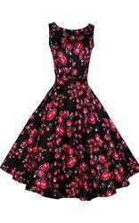 Miusol Women's Cap Sleeve 1950s Style Vintage Black Lace A-line Dress Sale: $42.99