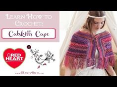 How to Crochet Catskills Cape | Red Heart