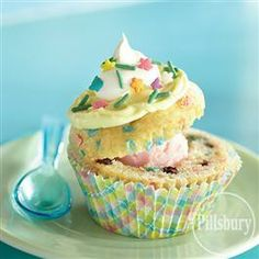 Funfetti� Spring Sundae Cupcakes from Pillsbury� Baking