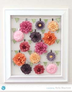 Flowers in Advent Frame by Kelly Wayment for Silhouette #silhouettedesignteam