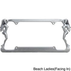 oxgord single piece designer zinc auto license plate frames eagle silver