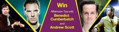 Bummer if you're willing to travel...{WIN the chance for you and a friend to have afternoon tea at The Club at The Ivy with Benedict Cumberbatch and Andrew Scott To enter make a donation of £20 between 2 - 16 September 2014}