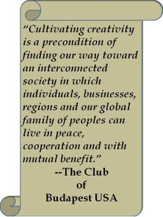 The Club of Budapest USA is on to something here!