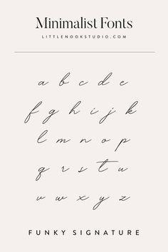 Minimalist fonts for your blog or brand. Type design, type inspiration, font inspiration, typography design, typography logo, typography inspiration, logo fonts, blog fonts by Little Nook Studio  instagram.com/little_nook_studio