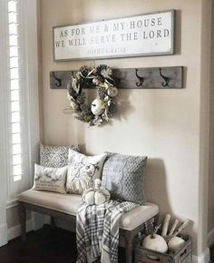 Make an entryway that spells home, recreate my most popular entryway pinned image with items I've sourced, for a rustic, country farmhouse, grey style entry
