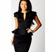 boohoo Lorna Slit Front Peplum Dress - black azz62206 Get glam designer style without the designer price tag with this stunning dress. http://www.comparestoreprices.co.uk/dresses/boohoo-lorna-slit-front-peplum-dress--black-azz62206.asp