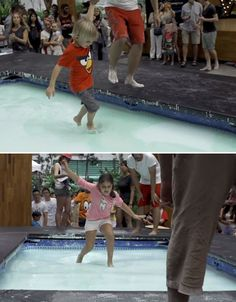 Walking on Water: Fun Non-Newtonian Fluid Experiment Haunted House Props, Haunted Houses, Non Newtonian Fluid, Water Experiments, Mad Scientists, Most Haunted Places, Science Party, Walk On Water, U.s. States