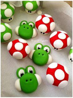 cute! Super Mario Torte, Super Mario Bros, Bolo Do Mario, Bolo Super Mario, Luigi Cake, Mario Bros Cake, Mario Birthday Cake, Super Mario Birthday, Clay Projects