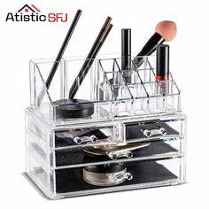 Cheaper US $27.59  Atistic SFJ Acrylic Makeup Organizer Display Stand Cosmetic Organizer drawer Makeup Case Makeup Storage Box Rangement Maquillage  #Atistic #Acrylic #Makeup #Organizer #Display #Stand #Cosmetic #drawer #Case #Storage #Rangement #Maquillage