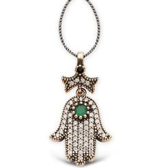 Women's Islamic Necklace Ottoman Style Hand of Fatma