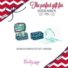 Thirty-One Baubles & Bracelets Case - the perfect holiday gift for your daughter or niece! http://www.mythirtyone.com/amywilson825