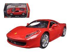 Ferrari 458 Italia Red 1/32 Diecast Model Car by Bburago
