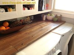 planked countertop