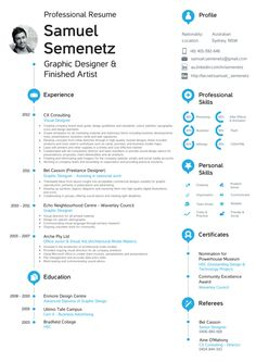 Resumé / CV by Samuel Semenetz, via Behance