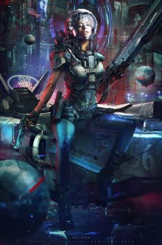 2056 by Juan Pablo Roldan. (via ArtStation - Juan Pablo Roldan) Cyberpunk 2077, Arte Cyberpunk, Cyberpunk Aesthetic, Cyberpunk Girl, Cyberpunk Character, Blade Runner, World Of Warcraft, Disney Art Drawings, Science Fiction Art