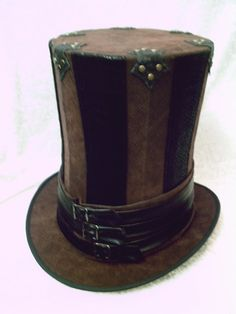 CUSTOM Gangs Of New York Top Hat Striped faux by GypsyLadyHats, $145.00