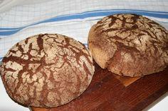 PERINTEINEN RUISLEIPÄ Bread Baking, Baked Goods, Bakery, Cookies, Chocolate, Eat, Desserts, Food, Blue