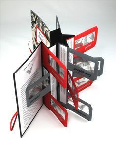 ♥♥♥  ♥ Accordion fan folded book with flags. Use as inspiration. ♥
