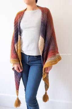 Wear the Adirondack Wrap as a shawl.