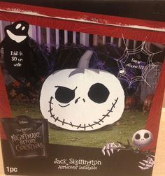 Jack Skellington Nightmare Jack o Lantern Halloween Pumpkin Airblown Inflatable