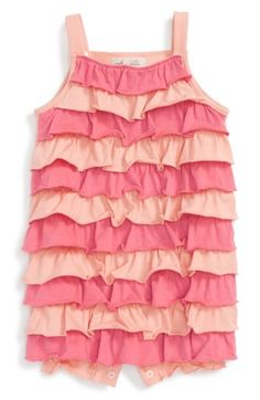 312f5f1e11a Free shipping and returns on Peek Ruffle Bubble Romper (Baby Girls) at  Nordstrom.