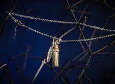Emma Swan Scroll written by magical ink Rumpelstiltskin // mini bottle pendant // for Once Upon a Time fans