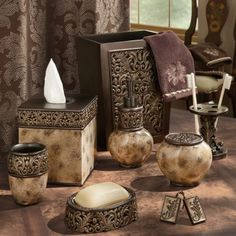 Croscill Argosy Bath Collection Marbled Mocha With Sculpted Neoclical Foliage Accents Homedecor Bathroom Collectionsbathrooms Decorbathroom