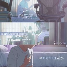 """The worst kind of sad is not being able to explain why."" Anime: Kimi No Na Wa - Your Name Kimi No Na Wa, Sad Anime Quotes, Manga Quotes, Sad Quotes, Your Name Quotes, Manga Anime, Your Name Anime, L Dk, Memes"
