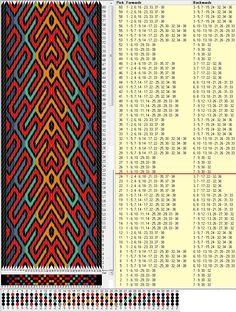 38 tarjetas, 6 colores, repite cada 24 movimientos // sed_863 diseñado en GTT༺❁