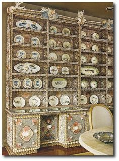 Paula Deen's Savannah Style - Enormous Sea Shell Encrusted Hutch