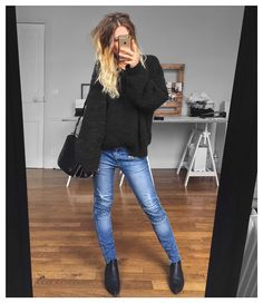 "3,720 Likes, 39 Comments - Mélanie Delhaye (@meleponym) on Instagram: ""Mouvement de meubles dans l'atelier ✔ pull #sheandcloops sur @she.and.cloops jean #sandro (old)…"""