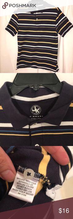 576b16b194e EUC j khaki striped polo shirt man s small This shirt is in great  condition. It