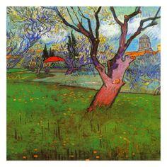 Vue D'Arles Avec Arbres En Fleurs Print by Vincent van Gogh at Art.com
