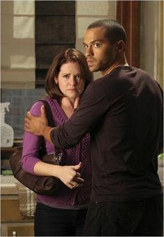 Grey's Anatomy : Photo Jesse Williams, Sarah Drew                                                                                                                                                                                 Plus