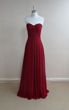 Beautiful wine red long bridesmaid dress, #bridesmaiddresses, #promdresses, #partydresses
