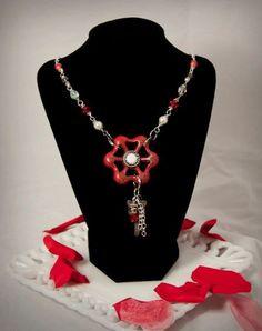 water faucet necklace | Red Water Faucet Necklace by myvioletwonderland on Etsy, $30.00