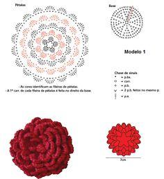 Flor de crochê