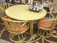Repurposed Table and Chair set ($120)