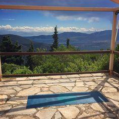 Shooting a new #meditation video for 2 Health App in beautiful Delphi Greece. A magical land!  #yoga #om #namaste #wellness #health #yogalife #yogaeveryday
