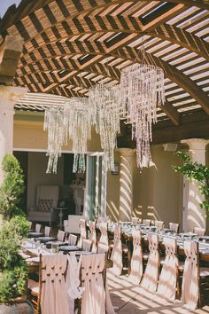 LOVE the fabric weave on the chairs // Ruffled - photo by http://daverichardsphotography.com/ - http://ruffledblog.com/west-hills-california-wedding/ - Ruffled