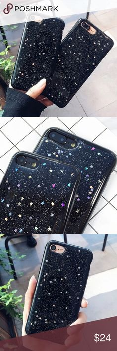 "Black sparkly star iPhone 6/6s - 7 - Plus case •sizes: iPhone 6/6s (4.7"") iPhone 7 (4.7"") iPhone 6 Plus (5.5"") iPhone 7 Plus (5.5"") •flexible silicone •phone not included •no trades *please make sure you purchase the correct size case. i am not responsible if you purchase the wrong size item #: 119 B-Long Boutique Accessories Phone Cases #PhoneCase"