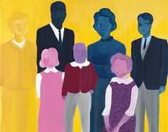 Original art for sale at UGallery.com | Family Portrait by Lucille Pack | oil painting | 16' h x 20' w