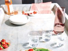 Strawberry Chicken Pecan Salad.  This main-dish salad features juicy strawberries at their seasonal peak.