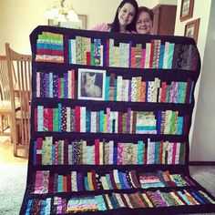 Bücherregal- Quilt/Patchwork
